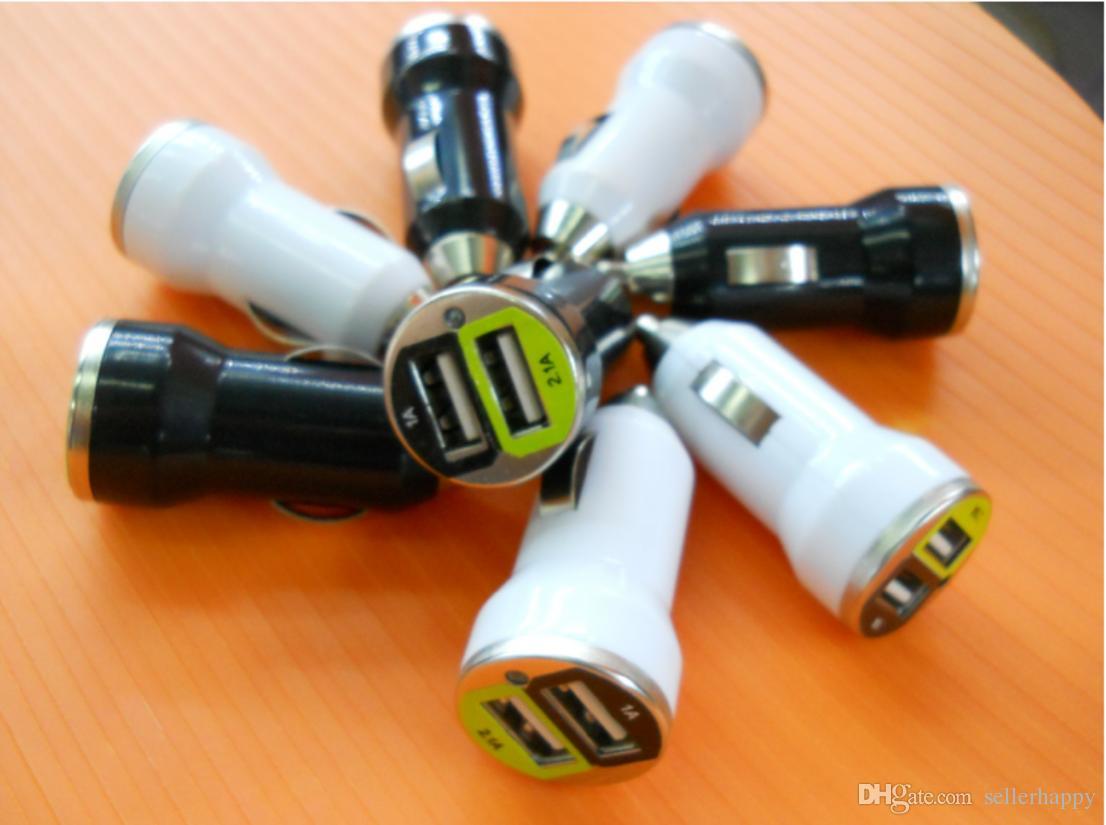 Dual USB Autoladegerät Adapter Bullet Autoladegerät Mini Bunte Autoladegerät Tragbares Ladegerät Universal Adapter für Iphone Samsung DHL