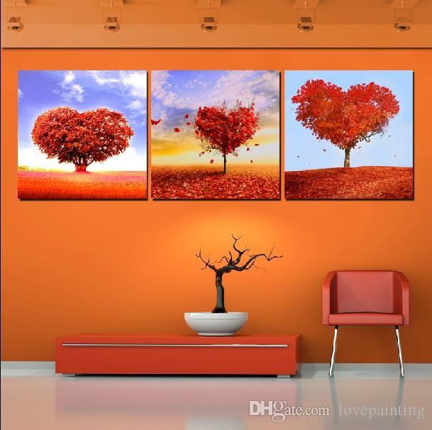 Wall Art Picture Unframed Living Room Canvas Prints Darjeeling Tea ceylon house Apple tree orchid Lotus leaf fish