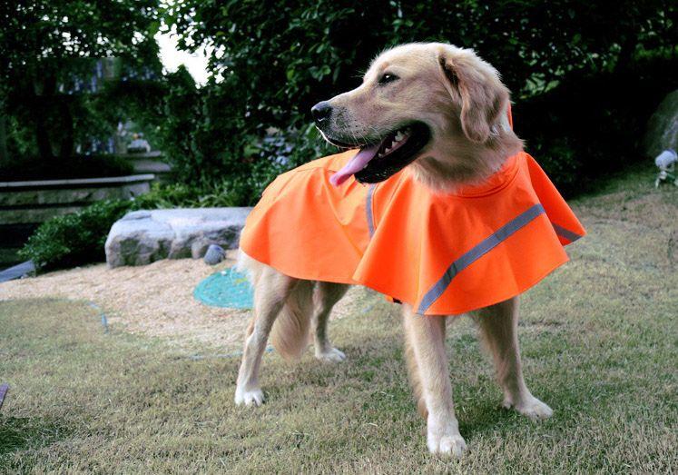 Pets Dog Puppy Cat Rain Coat Dog Clothes Waterproof Jacket Rainwear Hooded Reflective With 160909