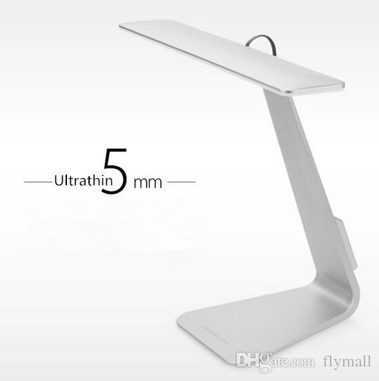 1X Ultrathin LED Dimming Touch Reading Table Lamp USB Eye Protection Night Light Rechargable Desk Light Lamps Silver/Gray/Gold Night Light