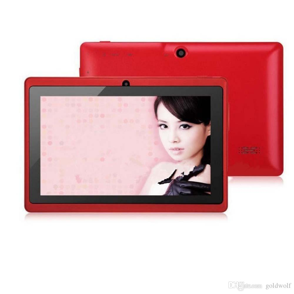 Wholesale Q88 7 Inch Android 4.4 Tablet with keyboard case PC ALLwinner A33 Quade Core Dual Camera 8GB 512MB Capacitive Cheap Tablets