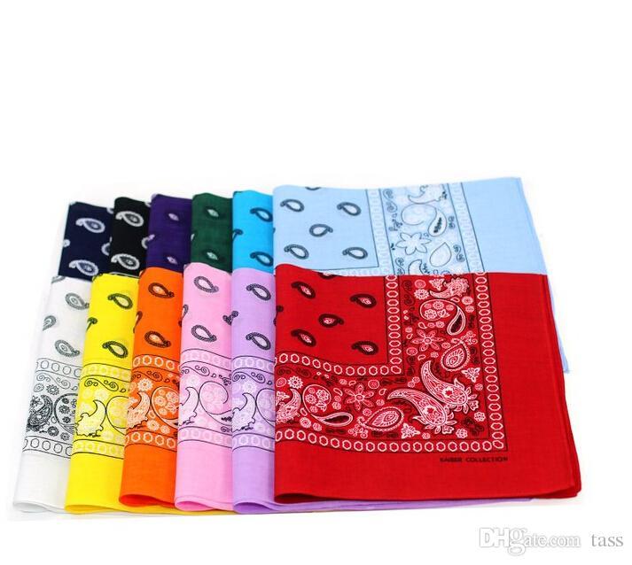 DHL Shipping Wholesale bandana headscarf NEW PAISLEY DESIGN BANDANA 100% COTTON BIKER COW BOY GIRL NECK SCARF WRIST WRAP
