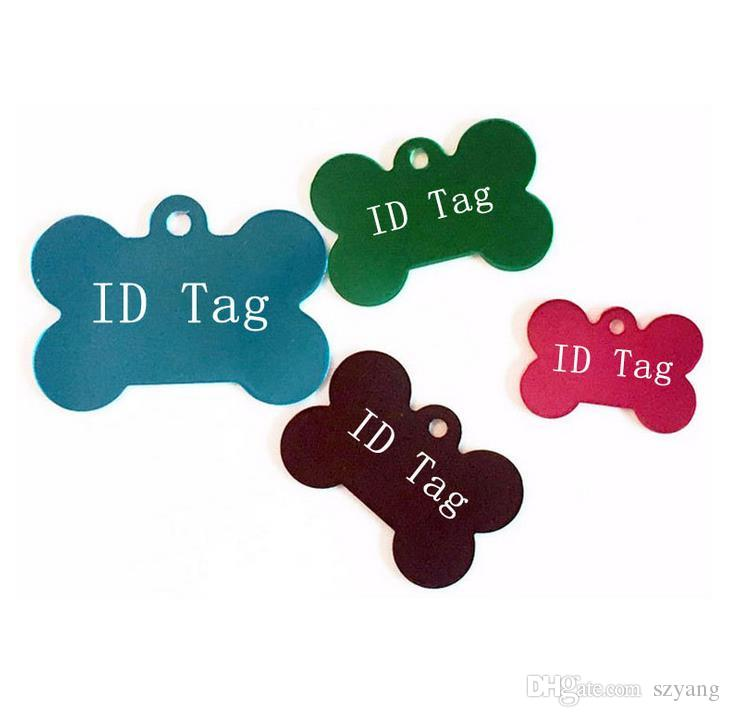 Novo Livre de Gravura Dog Pet ID Tags Nome Do Gato Cão Colar Tag de Animais de Estimação Cartão de Identidade Para Animais de Estimação Moda Chaveiro Cartão de IDENTIFICAÇÃO