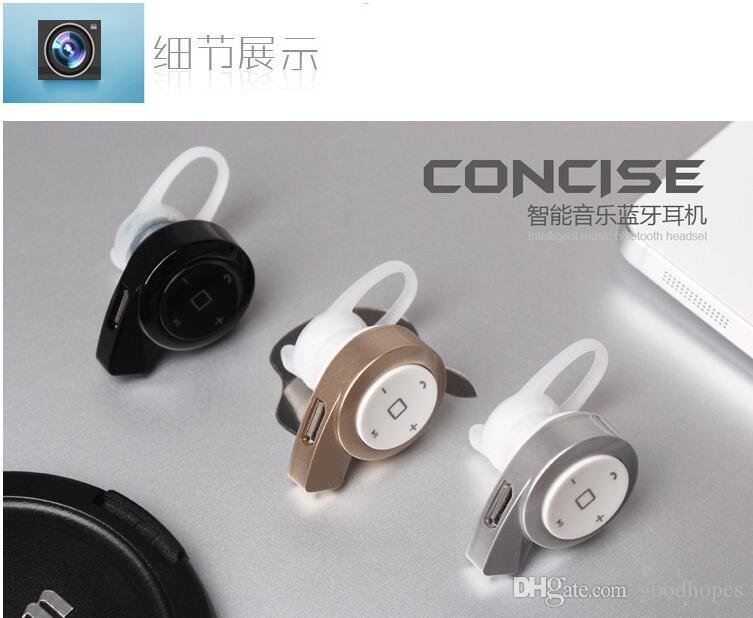 Mini auricolare Bluetooth Cuffie con microfono Infinim Neckbands Auricolari stereo HD senza fili Bluetooth CSR4.1 Sport iPhone6 6s plus S7