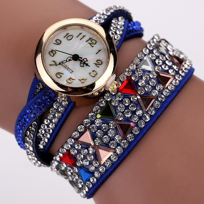 2017 New Fashion Watch Women Popular Rhinestone Luxury Bracelet Wristwatch Women Lady Female Dress Cheap Electronic Quartz Watch