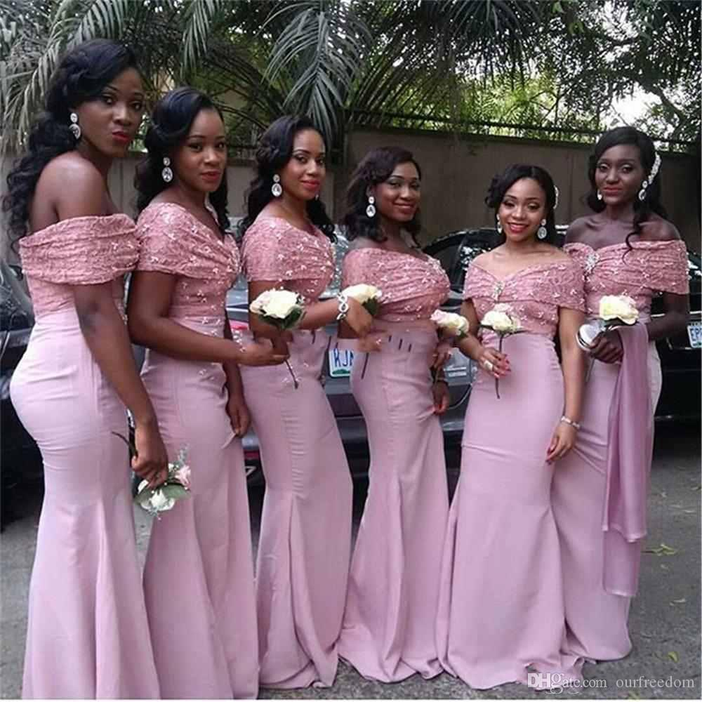 2017 new arabic off the shoulder bridesmaid dresses sparkly 2017 new arabic off the shoulder bridesmaid dresses sparkly sequins top elastic satin maid of honor wedding guest gown wedding party gown copper bridesmaid ombrellifo Images