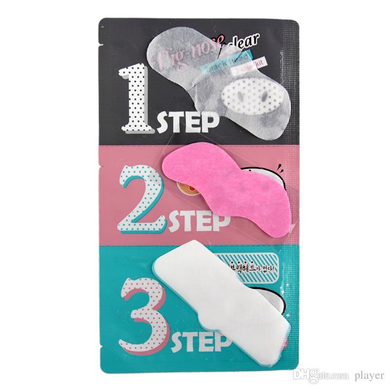 Holika Pig Nose Mask Blackhead Remover Nose Mask Three-step Kit Deep Cleanser Korean Cosmetics Face Nose Treatment Mask DHL FREE