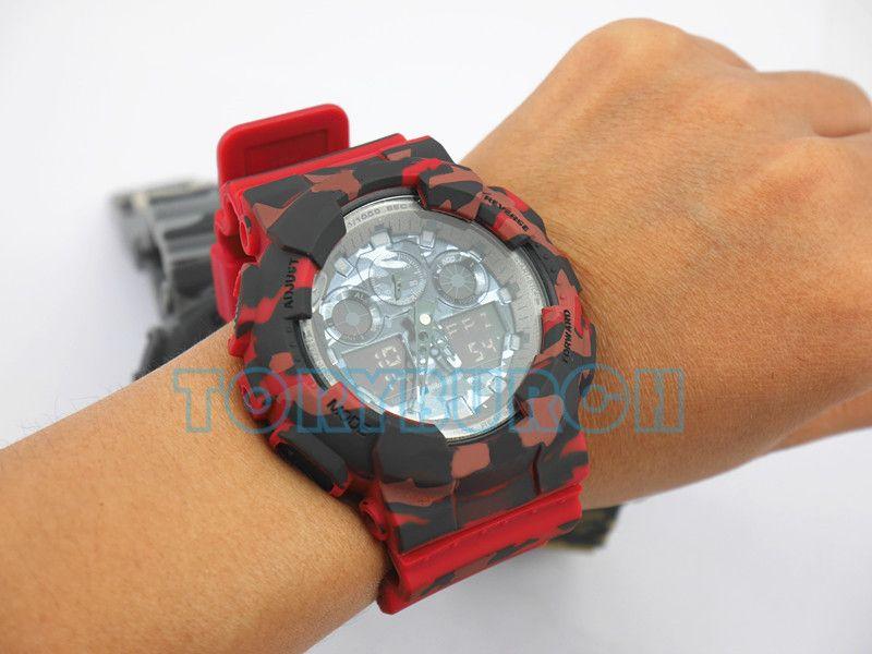 Hochwertige Relogio G * 100 Camouflage Herren Sportuhren, Luxusmarke Herrenuhr LED Chronograph Armbanduhr, Militäruhr, Digitaluhr