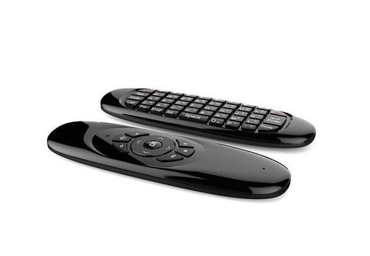 C120 2.4 GHz USB mini mouse air control remoto sem fio air control com teclado QWERTY retroiluminado para Windows Mac Android Linux TV Box