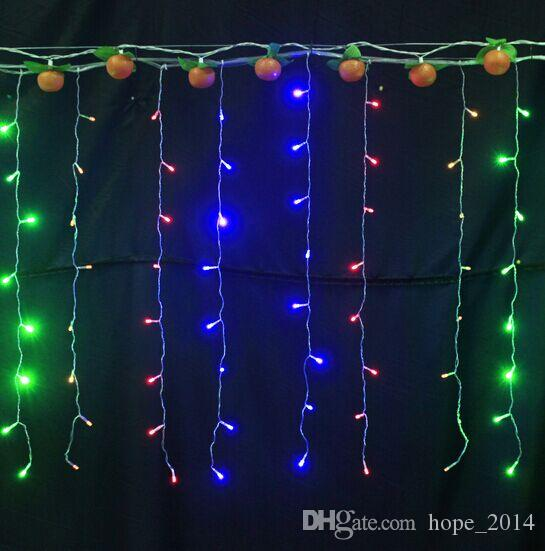 cheap indoor outdoor christmas lights lighting led icicles string light 35m 110v led ice bar string fairy light lamp for xmas led patio string lights globe - Christmas Lights String