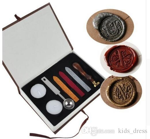 2019 European Vintage Wax Badge Seal Stamp Set Letter Wax Seal Kit