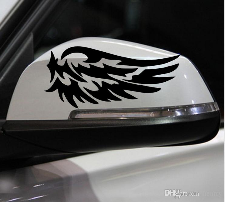 Малый размер зеркало заднего вида автомобиля стикер мини палку белый черный крыло шаблон ствол смешные мода EMS доставка