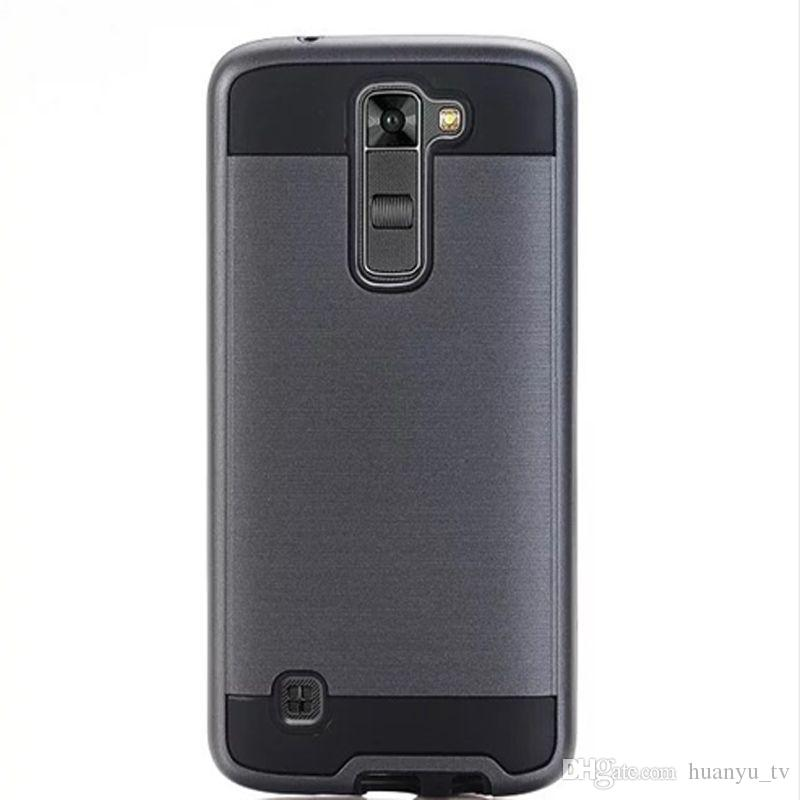 Armor Cover Cases For LG K7 / LG K8 TPU+PC Case Brushed Mobile Phone Bags Shell Protective Skin