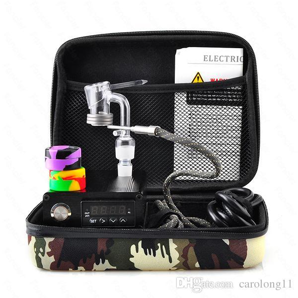 Fancier Dab Tırnak Elektrikli Tırnak Kiti ile Sıcaklık Kontrol ile Rig için Titanyum Tırnak Yağ Cam Bongs su borusu