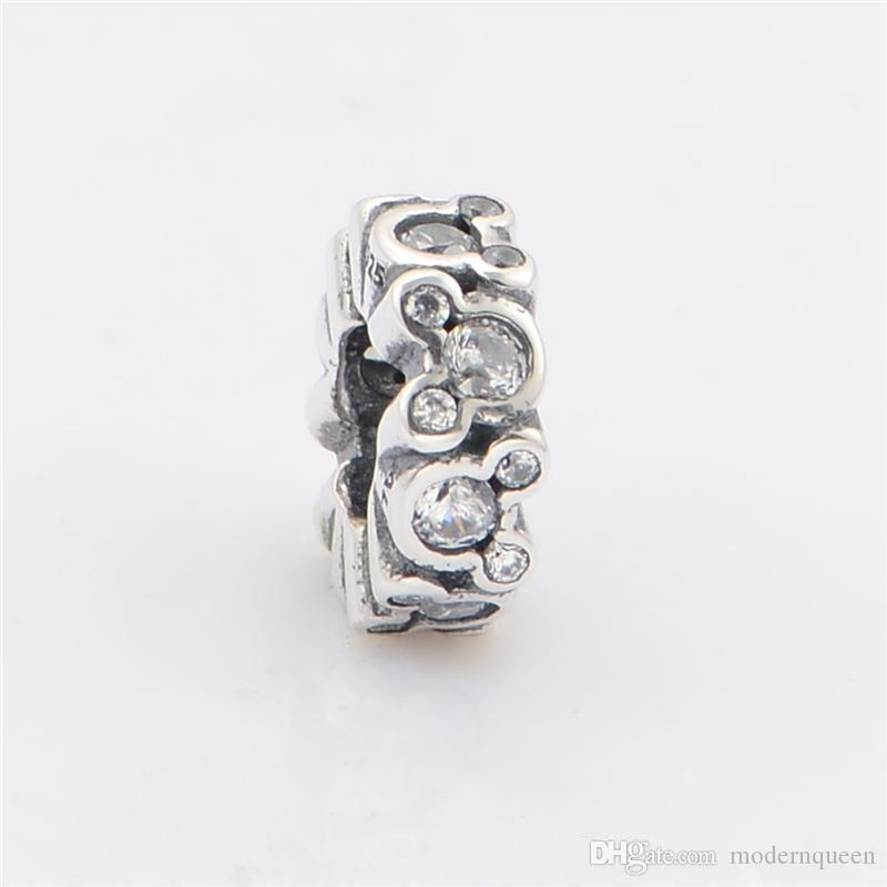 Silver mouse charm jewelry S925 Sterling silver slide fits pandora style bracelet LW475