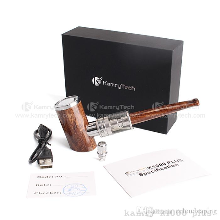 Kamry K1000 Plus Kit 전자 담배 키트 E 파이프 우드 Mod 키트 1100mah 1-35W 배터리 4.0ml 분무기 거대한 기화기 키트 100 % 정통