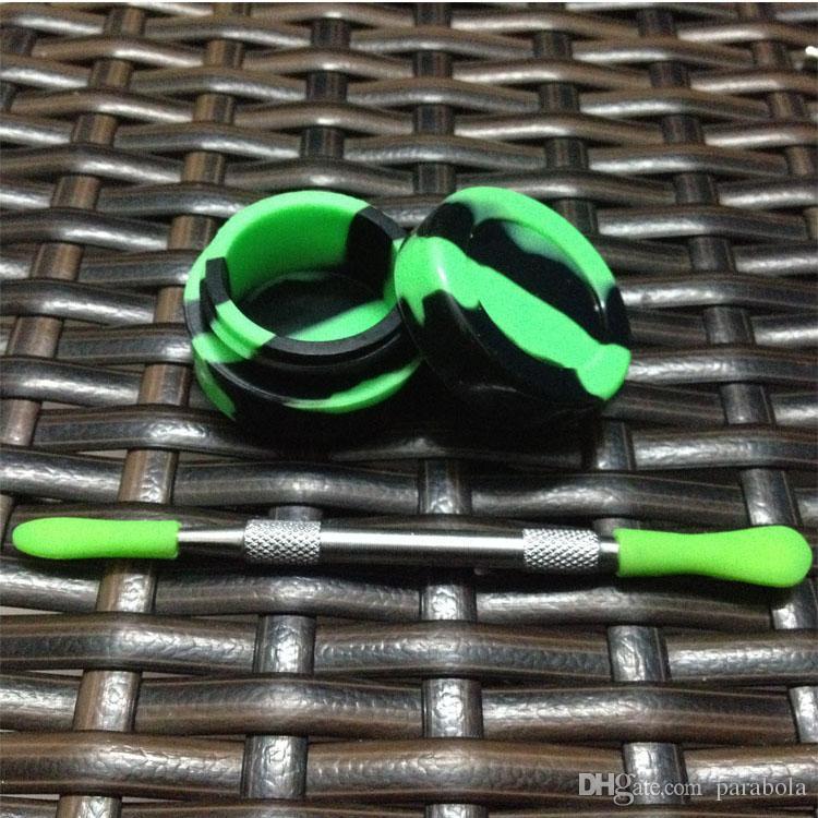 Оптовые металлические dab инструмент восковые dabber инструмент с силиконовой верхней dab восковые инструменты, курить гвоздь палочки
