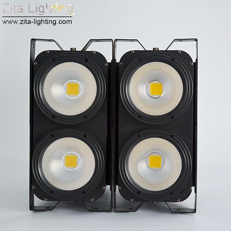 Zita Lighting LED Blinder Lights 4X100W Matrix COB Audience Lights Background Studio Stage Lighting Par Fixture DMX Theater DJ Disco Effect