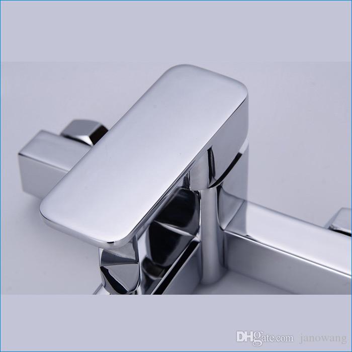 Robinet de baignoire en laiton de haute qualité de robinet de baignoire de quartet et de robinet, mélangeurs de douche de bain, livraison libre J14839