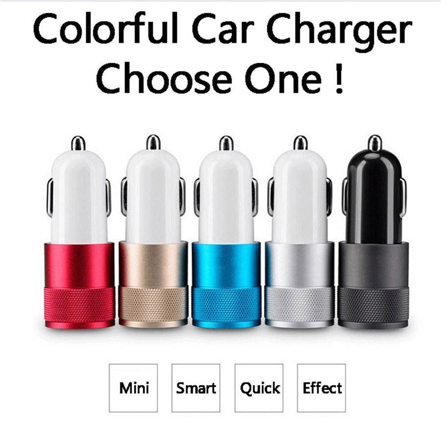 Best Metal Dual USB car charger Port Auto-Ladegerat Universal 12 Volt / 1 ~ 2 Amp for Apple iPhone Samsung Galaxy Motorola