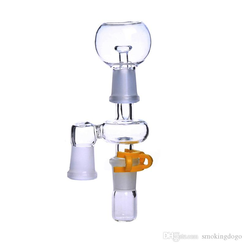Smoking Dogo Reclaim Ash Catcher 14.4mm or 18.8mm Male Female Joint Glass Adapter With Keck Clip For Glass Bong Oil Rig