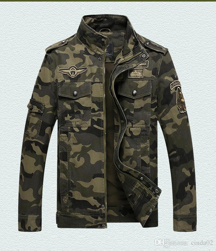 Men  Army jackets plus size 6XL Hot cost outerwear embroidery mens jacket for