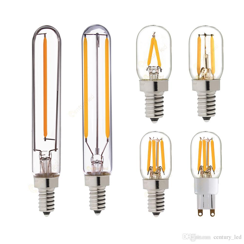 LED Filament Bulb Tubular Lamp Refrigerator T20 1W 2W G9 E12 E14