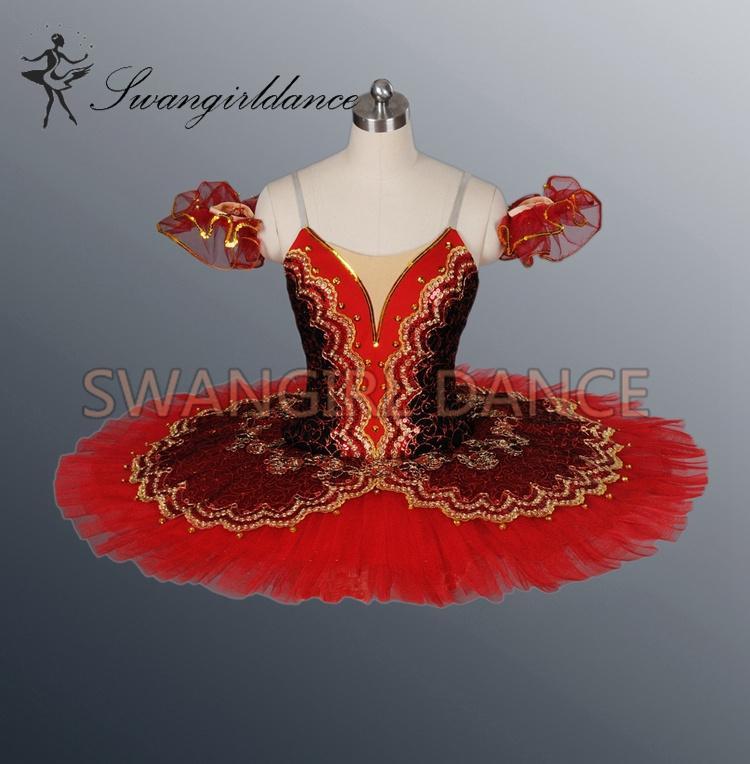black/red Sleeping Beauty Classical ballet tutu professional adult ballet tutu girlsBT8941