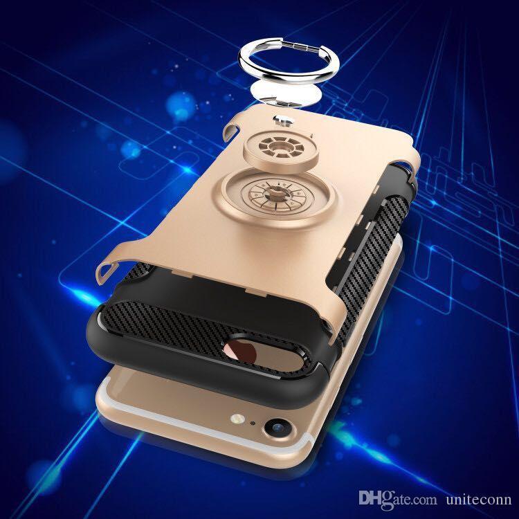 Гибридный ТПУ + ПК 2-от-1 броня чехол противоударные случаи 360 кольцо стенд держатель магнитная задняя крышка для Samsung J3 j5 j7 2017