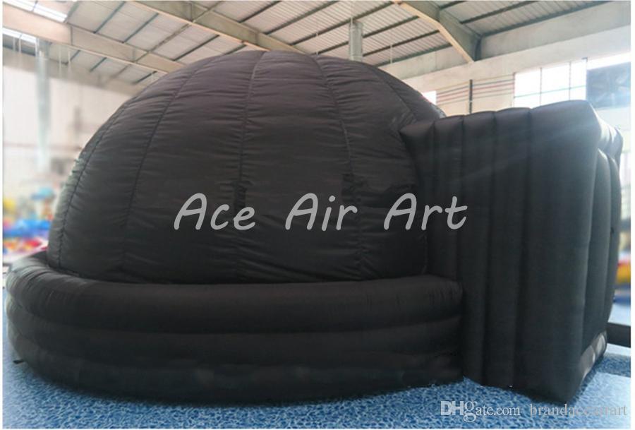 Astronauta gonfiabile ad alte prestazioni Proiezione Tenda cupola gonfiabile planetario, cimema igloo con 3 anelli in vendita