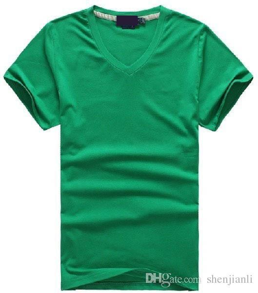 Freies verschiffen Heiße 2016 100% baumwolle männer V-ausschnitt kurze T-Shirt marke männer shirts casual style für sport männer T-Shirt größe S-XXL