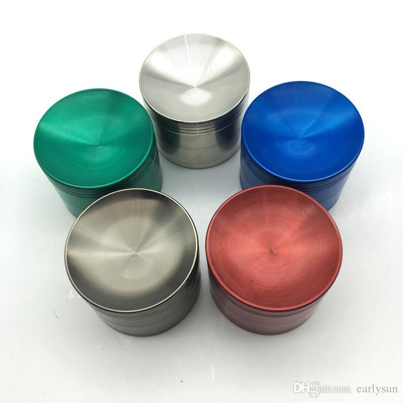 Nuovo 4 strati di fumo rotto metallo tabacco frantoio tubo di fumo frantumazione di sigaretter sigaretter maker moledor sigaro Magnetic.ES-GD-088