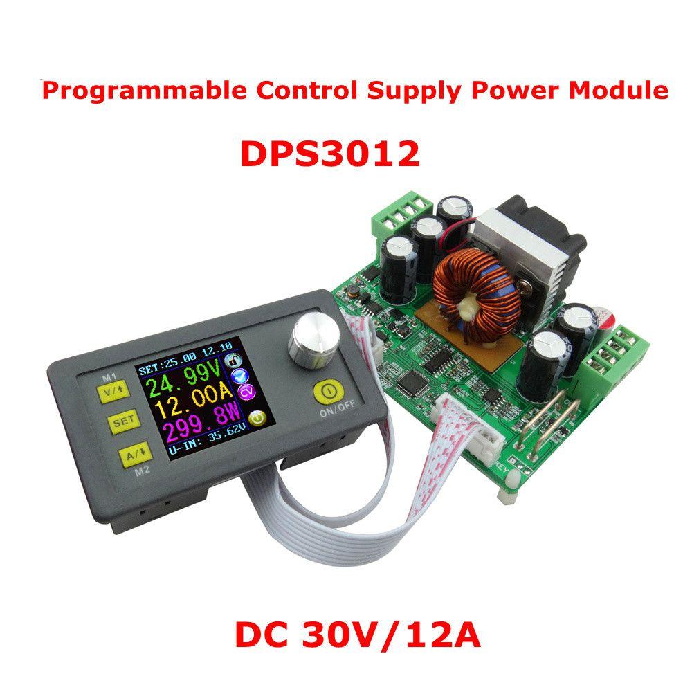 DPS3012 DC30V / 12A Step-down Programmierbare Steuerung Netzteilmodul Buck Spannungswandler Konstantspannungsstrom Farbe LCD Voltmeter