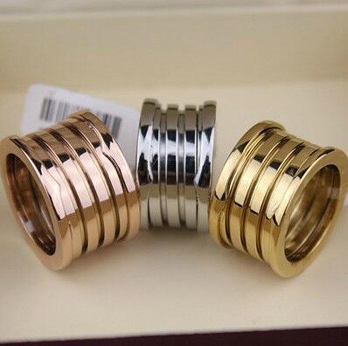 splendido matrimonio 100% Eleastic marca strass anelli donne marchio comune dei monili dell'annata L'ultimo oro rosa 18k Anello