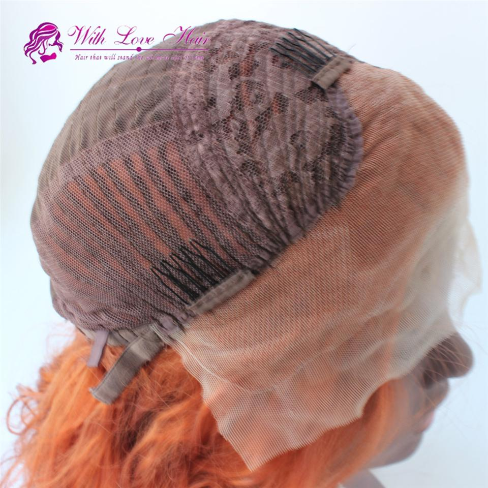 Natural Ombre Light Pink Body wave Heat Resistant Synthetic Hair Lace Front Wigs For Women Epacket