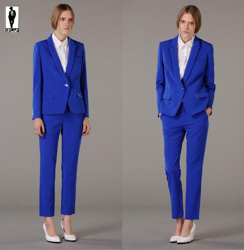 2017 Ur 19 Custom Made Royal Blue Bussiness Formal Elegant Women ...
