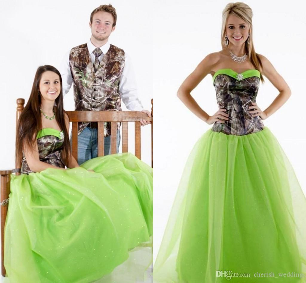 Camo Green prom dresses pictures fotos