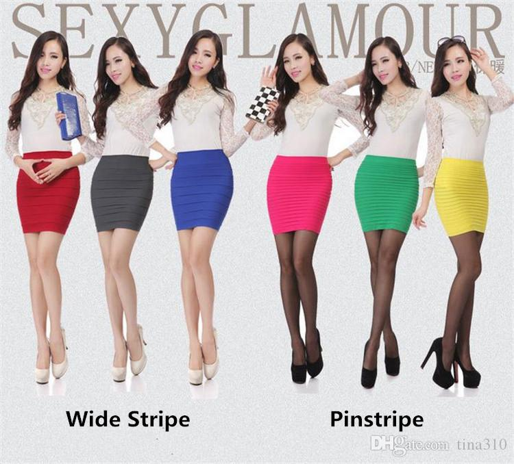 Womens Mini skirts new high waist short Skirts work formal A line Stretch club wear skrits pencil Casual Skirts for woman 2853