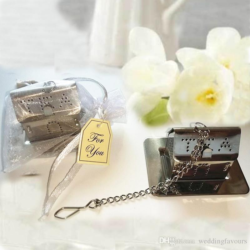 Welcome Home Mini House Tea Infuser Wedding Favors Bridal Shower