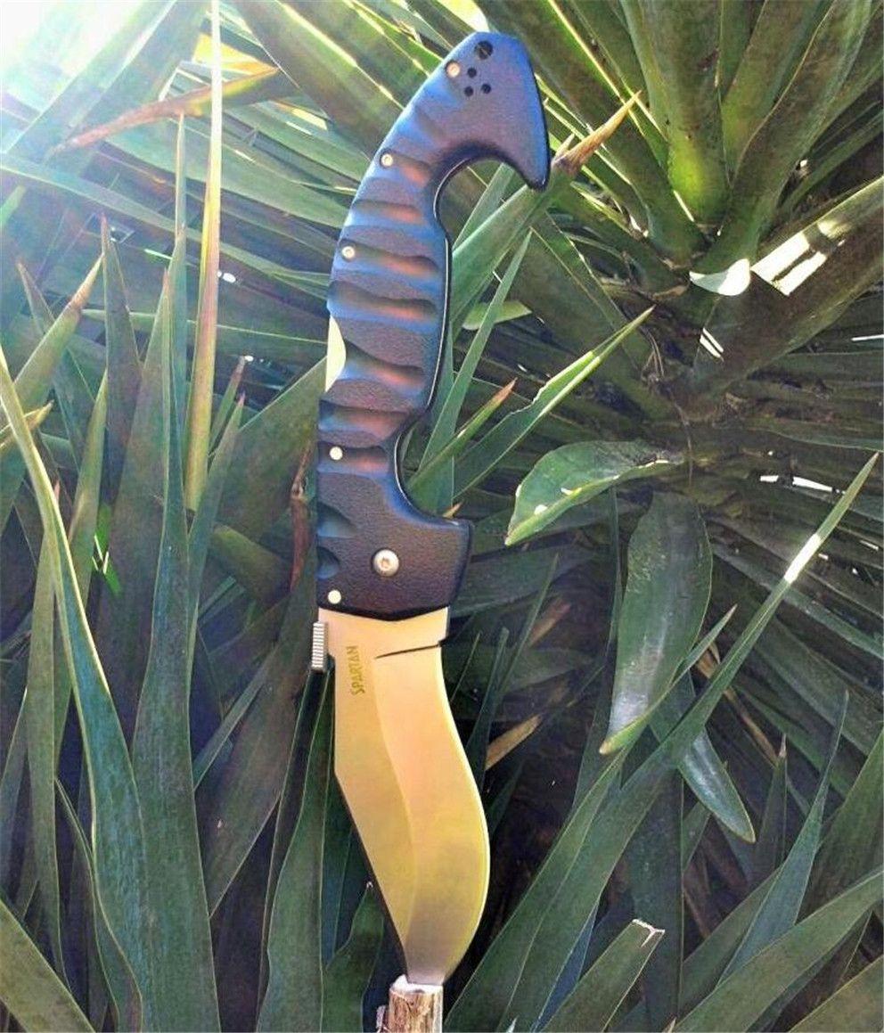 Beförderung! Cold Steel Messer Spartan Folding Messer Aus-8-Blatt-Grivory Griff Qualitäts-Taschenmesser