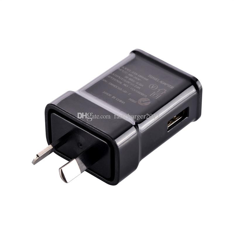 5V 2A NZ Au AC Início Travel Recados carregador Power Adapter ficha para Samsung S6 S8 S10 HTC Android telefone pc