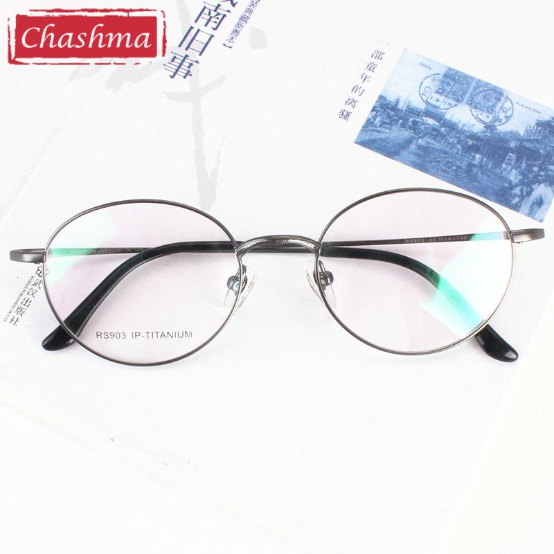 fd23027605 2019 Wholesale Chashma New Titanium Round Eyeglasses Optical Vintage  Spectacle Frames Retro Prescription Eyewear From Heheda1