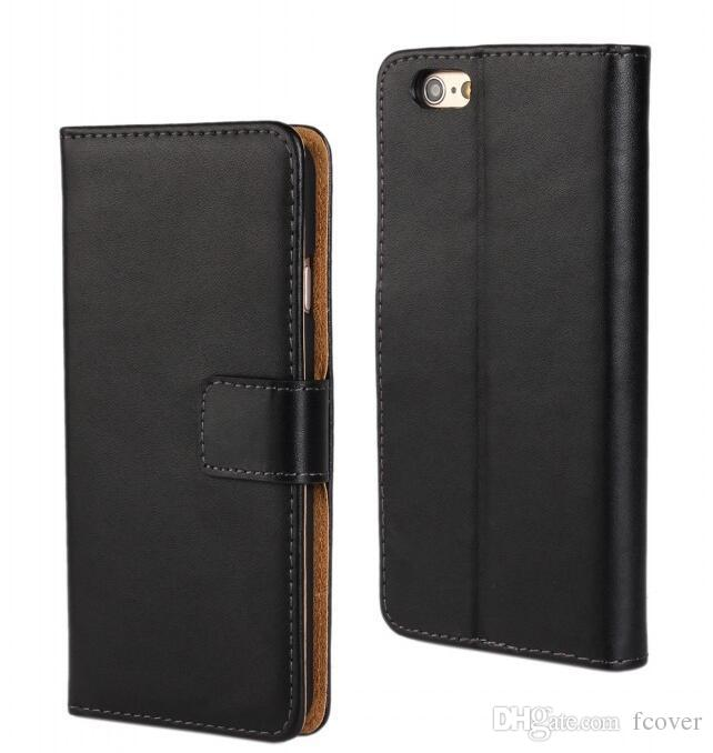 For iphone 6 4.7 Wallet Cases,New Book Style Stand Genuine Leather Cases Card Flip Cover For iphone 4 5 5s 6 7 6SE 6s Plus 5.5inch