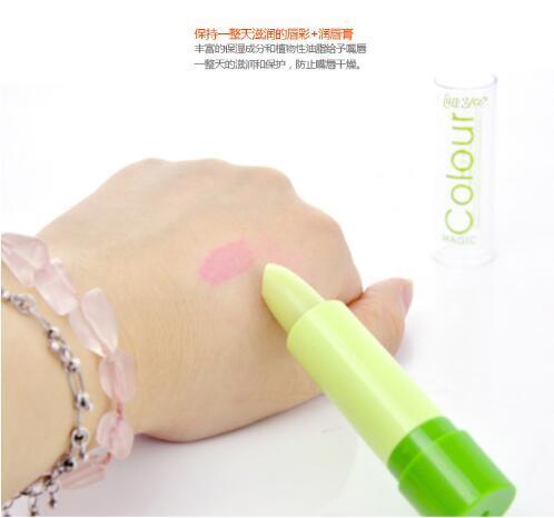 Date maquillage nouvelle marque baume à lèvres vert changement de couleur au rouge à lèvres hydratant changement de couleur rouge à lèvres