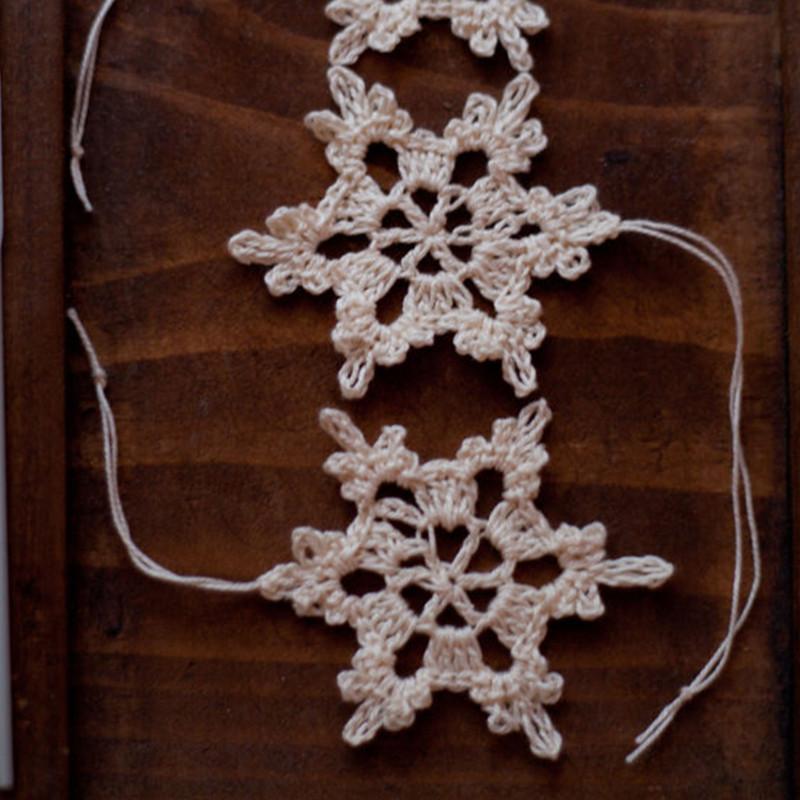 Großhandel Handgemachte Gehäkelte Schneeflocke Dekoration Vintage ...