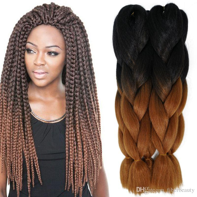 24inch 100g Synthetic Braiding Hair Two Tone Ombre Xpressions