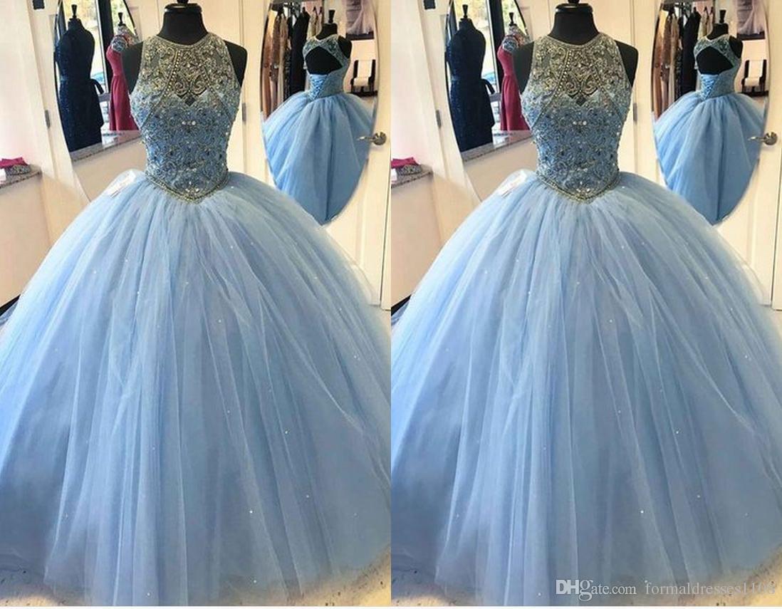 Sweet Sixteen Dresses Light Blue