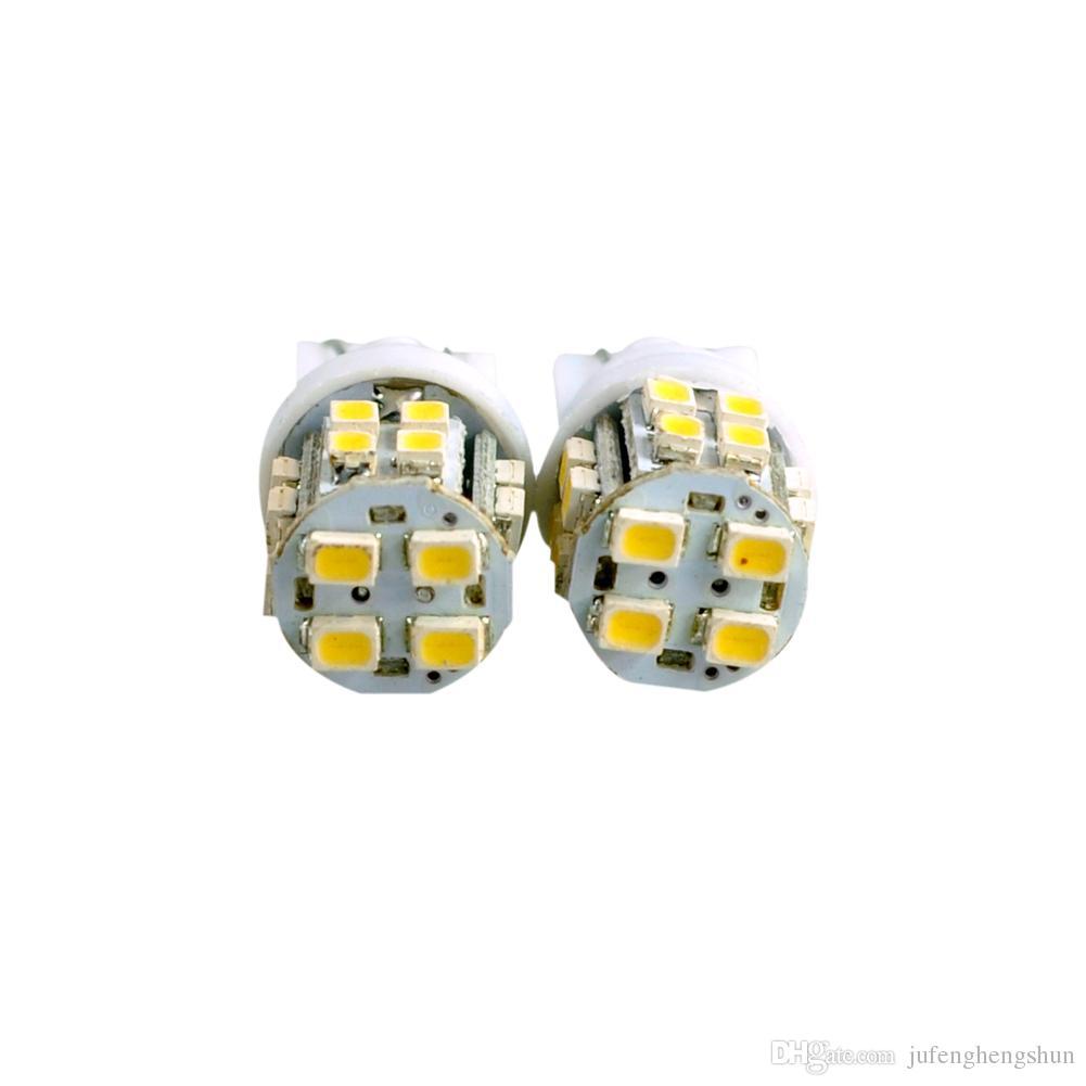 T10 LED Car Light Bulb W5W 20 LEDs 1206 SMD DC 12V White 6000K Inverted Side Wedge Lights Universal Auto LED Lamp