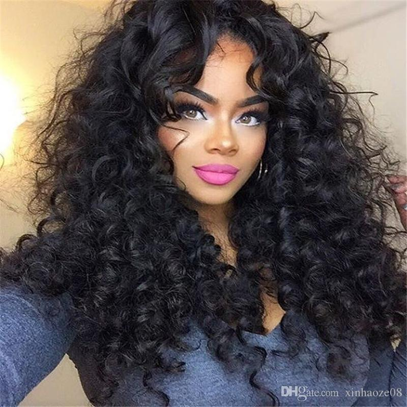 Hot Sale 150% Density Full Lace Wig Glueless Brazilian Human Hair Long  Curly Lace Front Wigs For Black Women Full Lace Wigs Under 100 Dollars Hair  Wigs For ... 2e82ce4e2feb