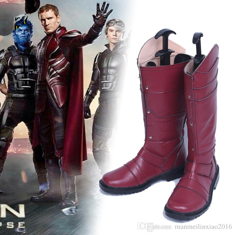 Movie Character X-Men Cosplay Magneto Erik Lehnsherr Cosplay Costume Accessor Shoes Costume BOOTS Custom Made Any Size For Unisex